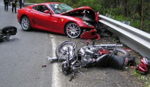 car_crash_ferrari_599_drifts_and_hits_two_motorcyclists